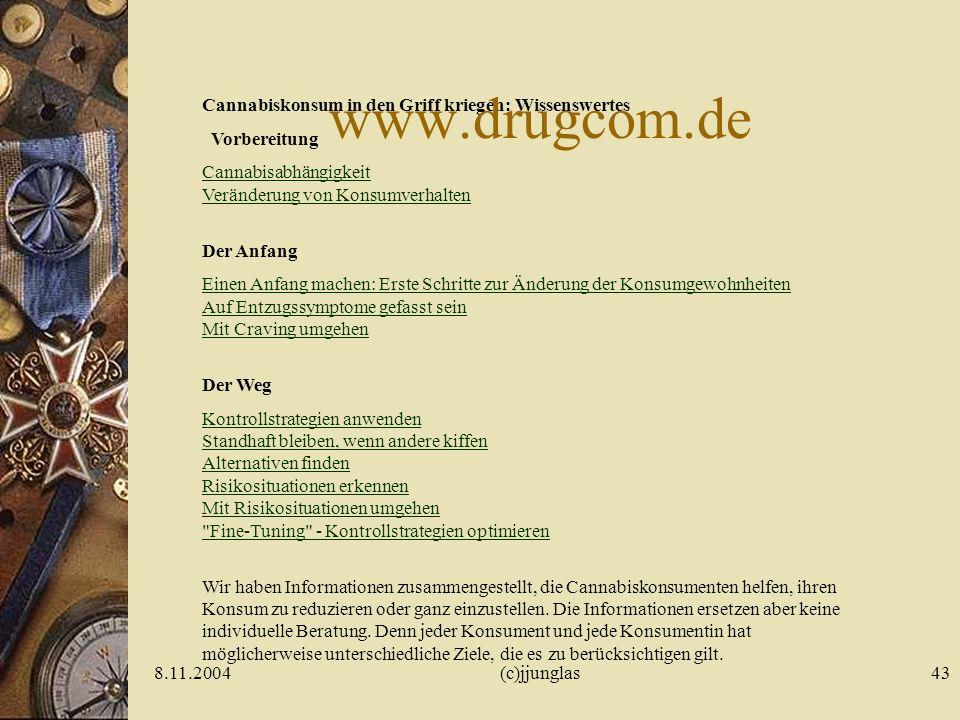 www.drugcom.de Cannabiskonsum in den Griff kriegen: Wissenswertes