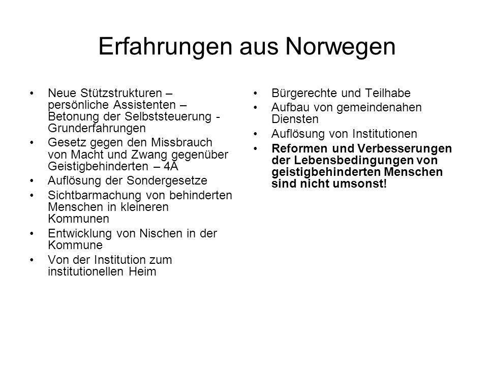 Erfahrungen aus Norwegen