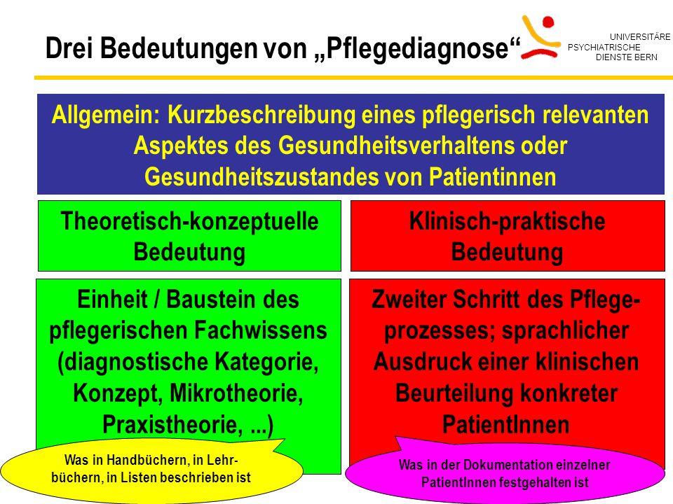 """Drei Bedeutungen von """"Pflegediagnose"""