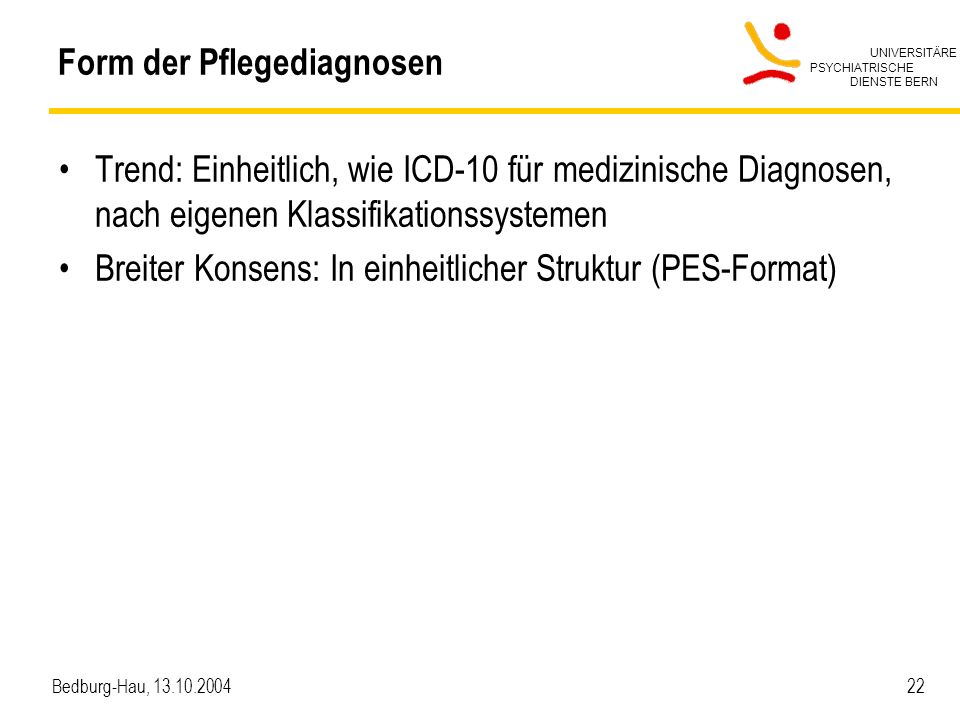 Form der Pflegediagnosen
