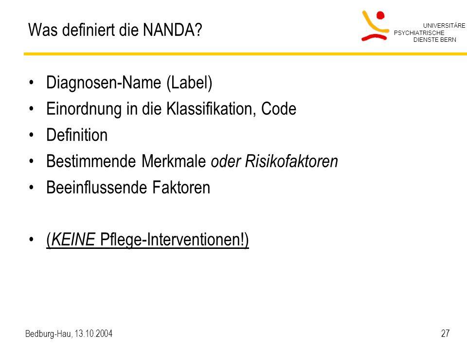 Was definiert die NANDA