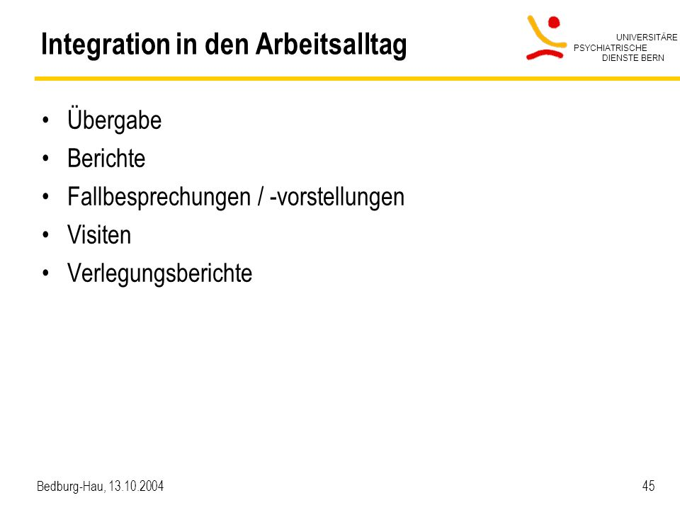 Integration in den Arbeitsalltag