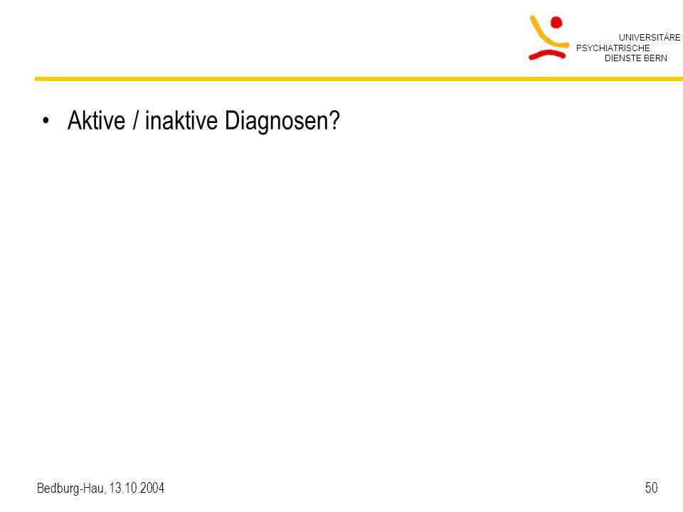 Aktive / inaktive Diagnosen
