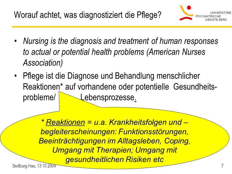 Worauf achtet, was diagnostiziert die Pflege