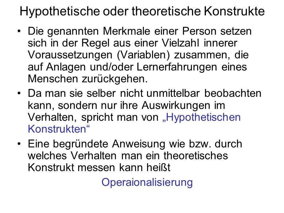 Hypothetische oder theoretische Konstrukte