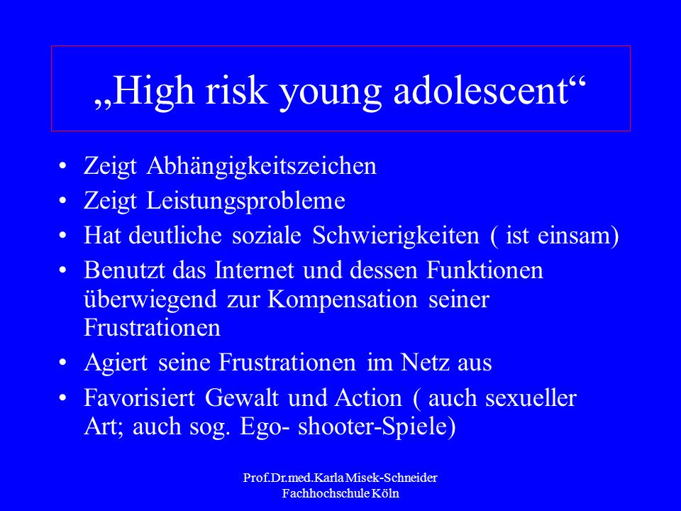 """""""High risk young adolescent"""