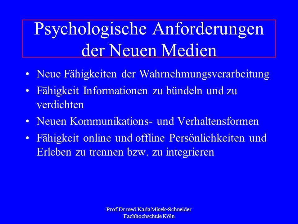 Psychologische Anforderungen der Neuen Medien