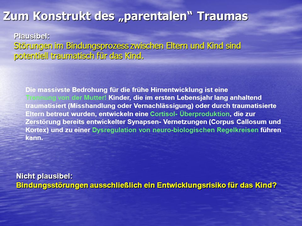 "Zum Konstrukt des ""parentalen Traumas"