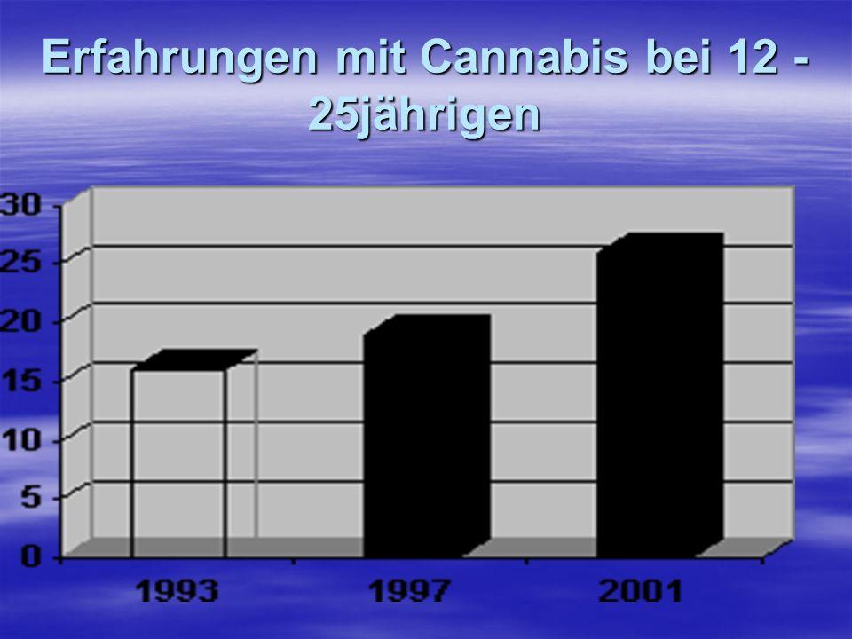 Erfahrungen mit Cannabis bei 12 - 25jährigen
