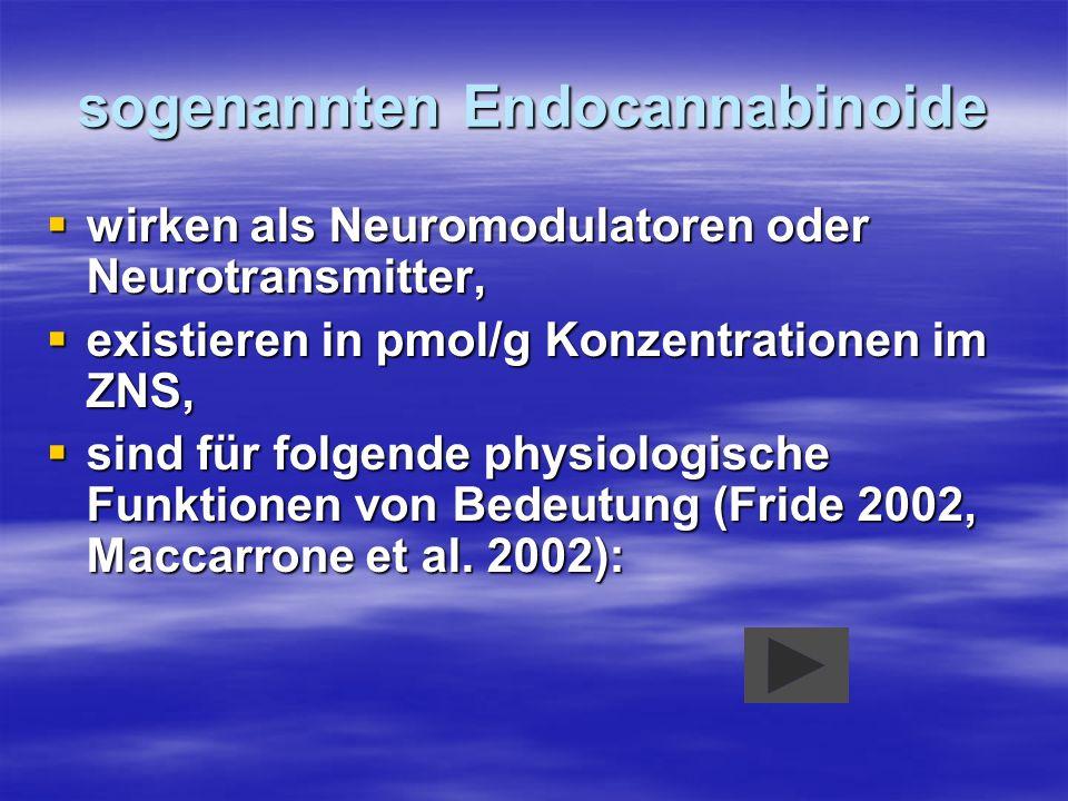 sogenannten Endocannabinoide