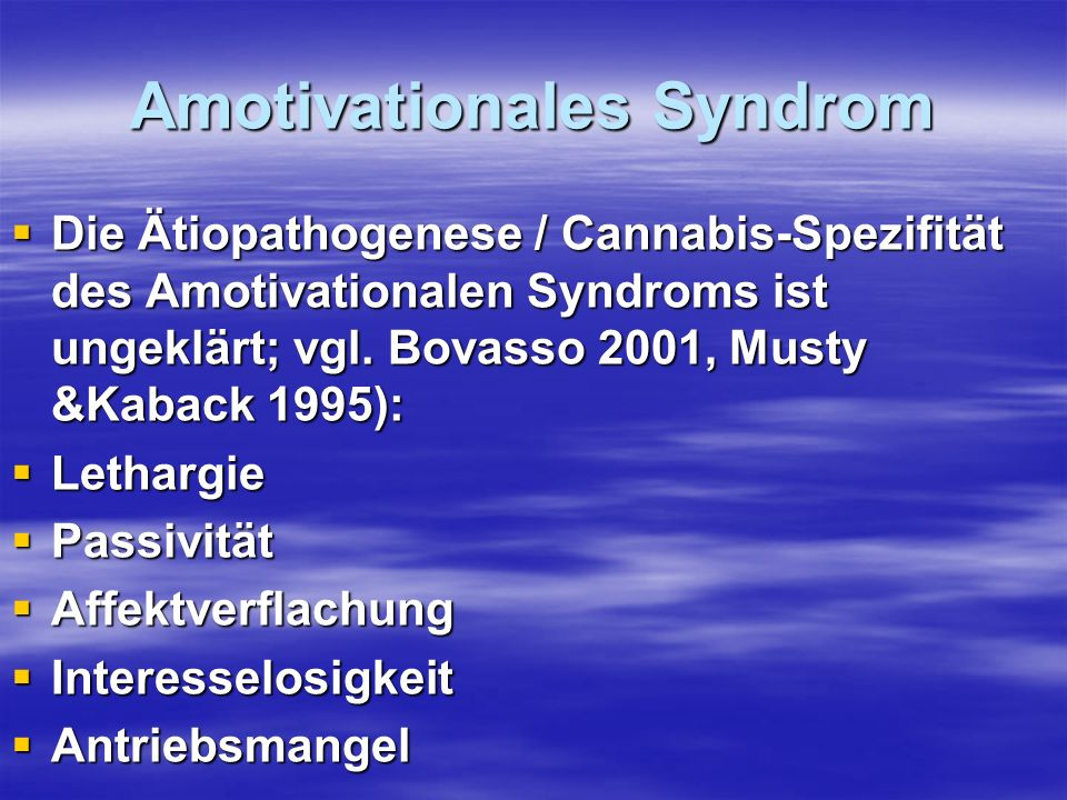 Amotivationales Syndrom
