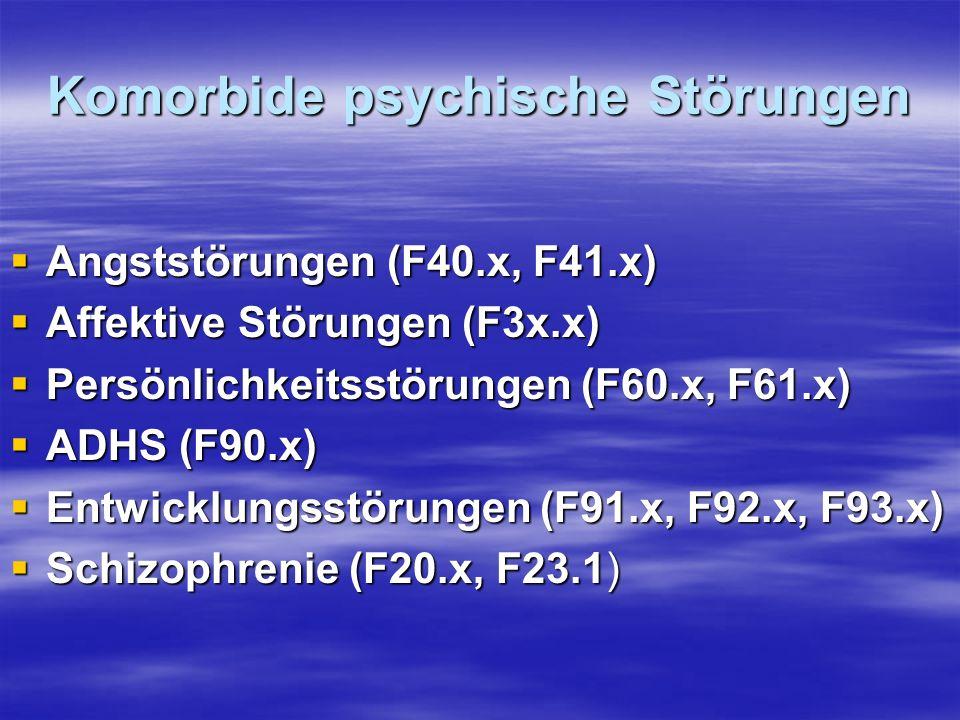 Komorbide psychische Störungen