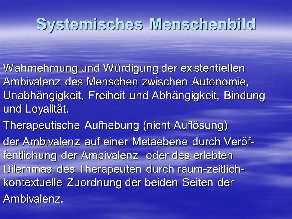 Systemisches Menschenbild