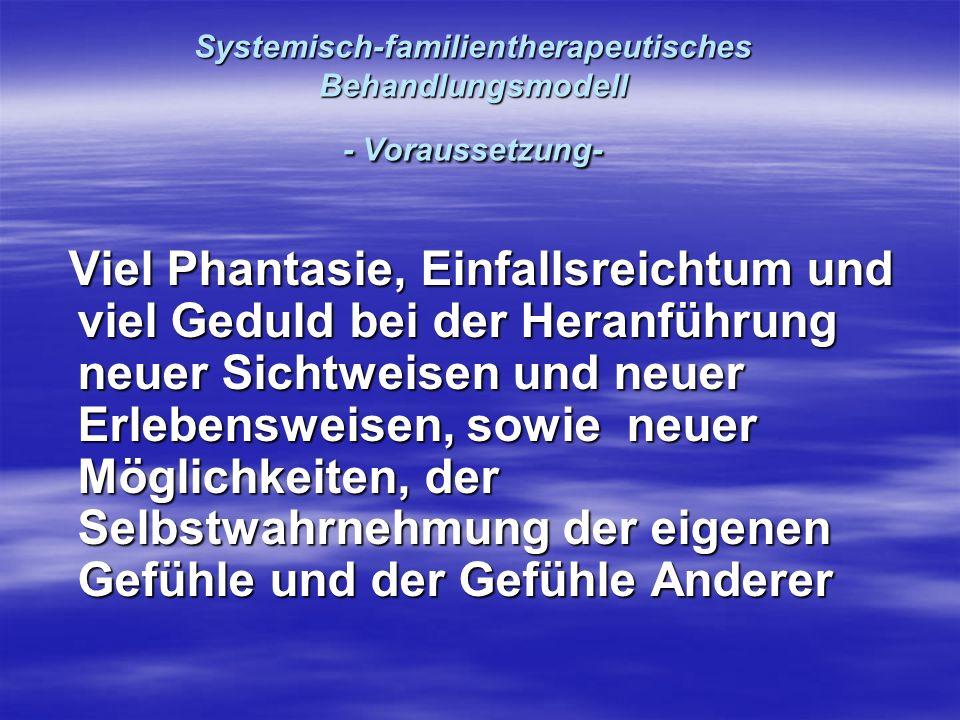 Systemisch-familientherapeutisches Behandlungsmodell - Voraussetzung-