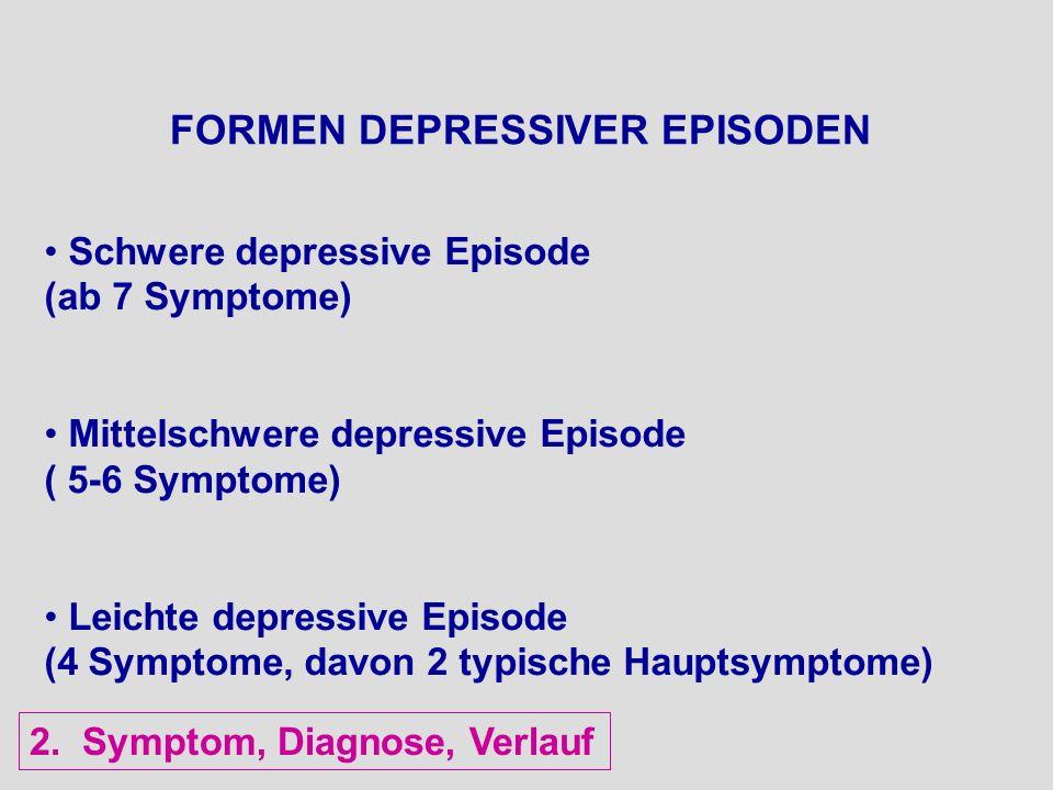 FORMEN DEPRESSIVER EPISODEN