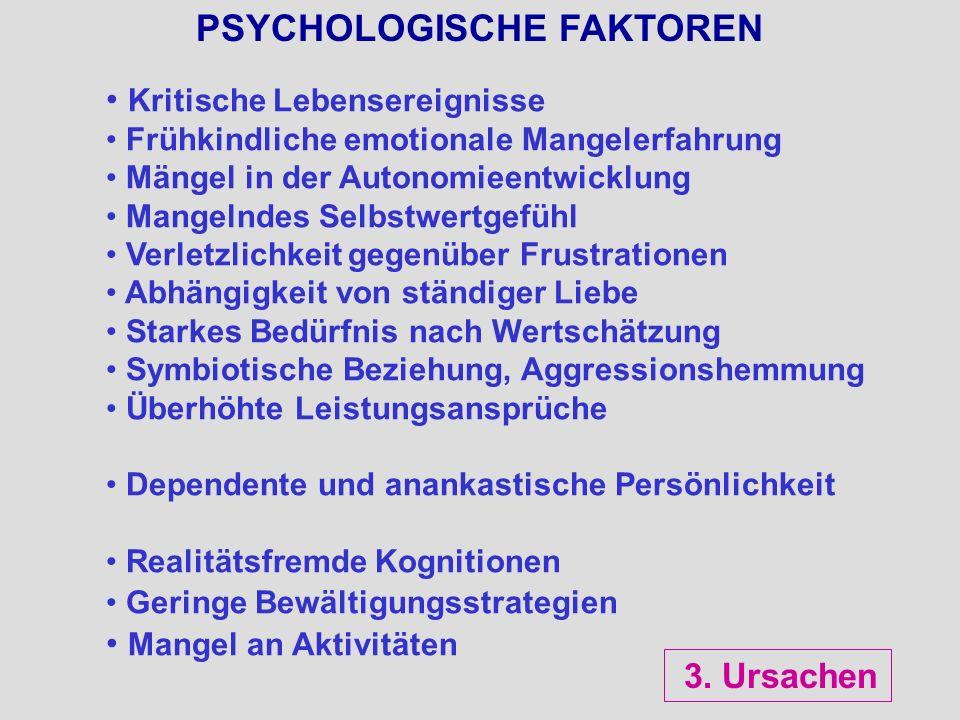 PSYCHOLOGISCHE FAKTOREN