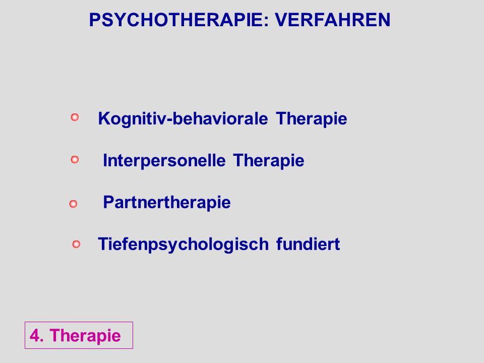 PSYCHOTHERAPIE: VERFAHREN