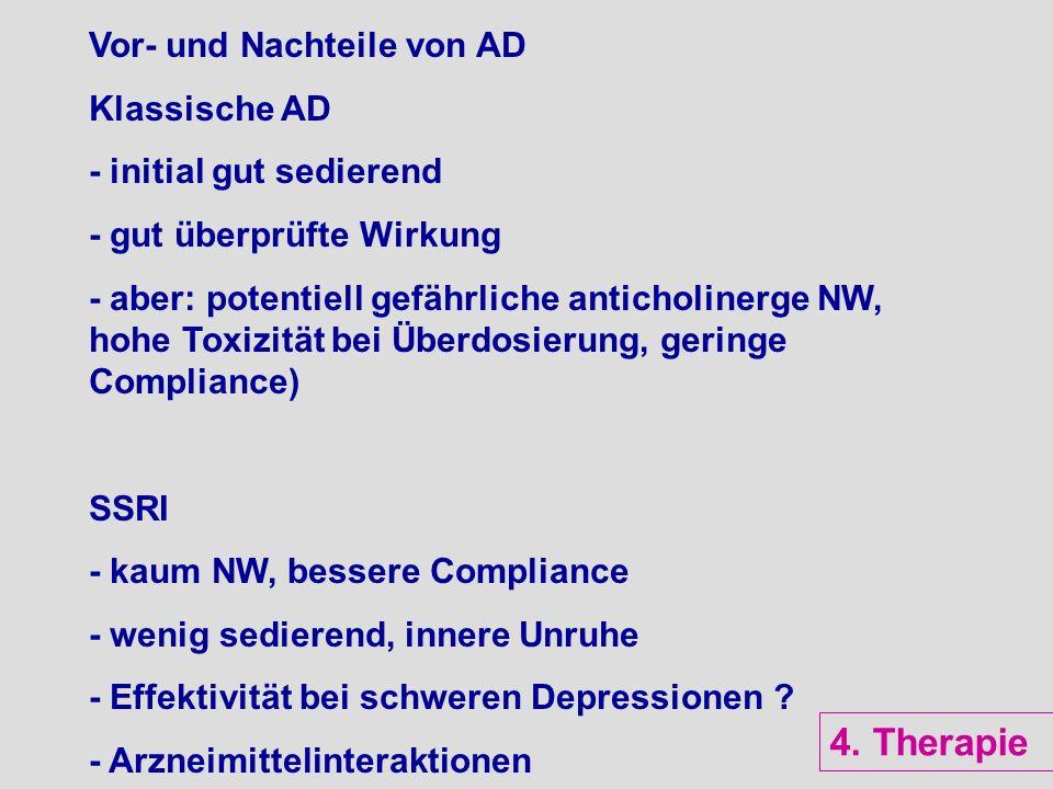 4. Therapie Vor- und Nachteile von AD Klassische AD