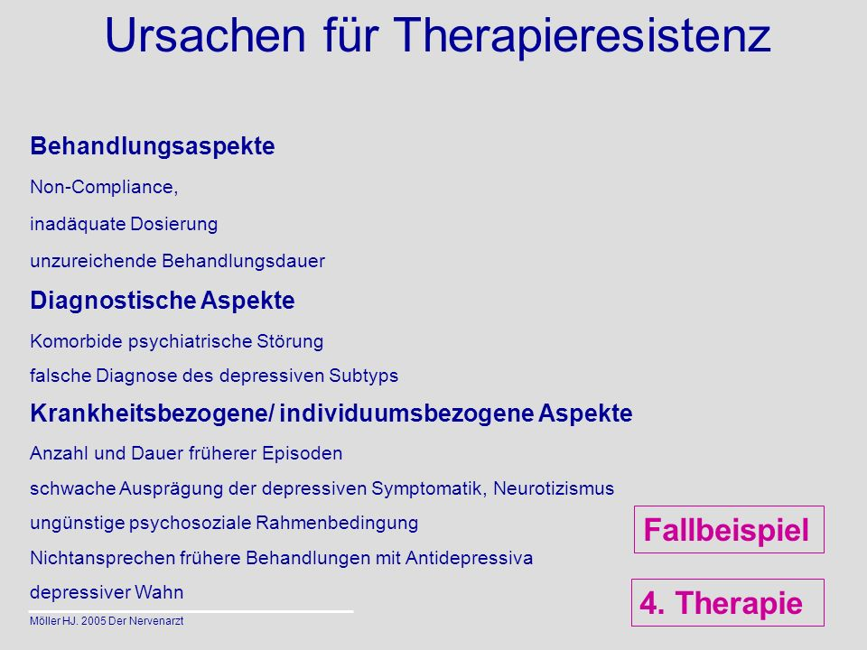 Ursachen für Therapieresistenz