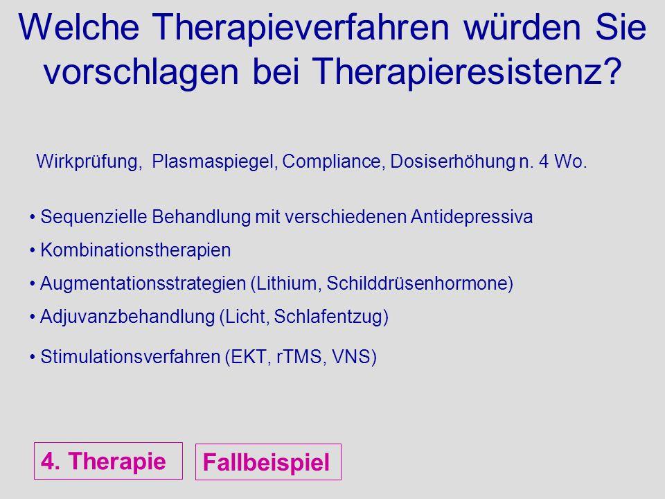 Welche Therapieverfahren würden Sie vorschlagen bei Therapieresistenz