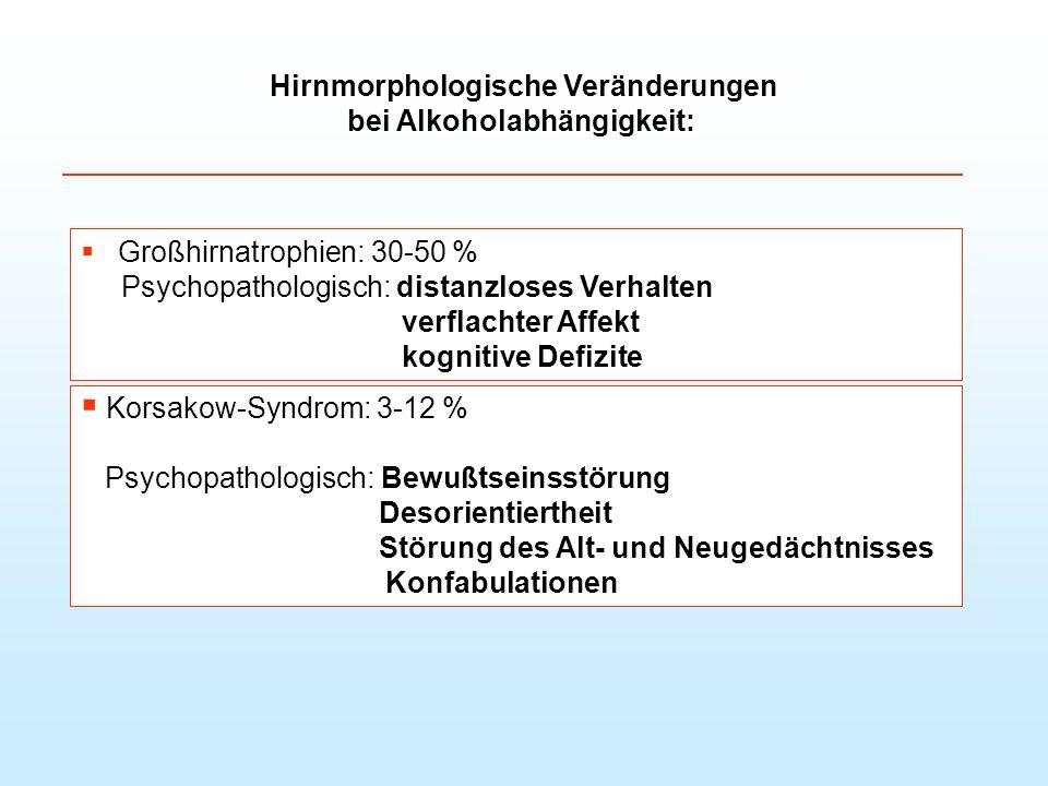 Hirnmorphologische Veränderungen bei Alkoholabhängigkeit: