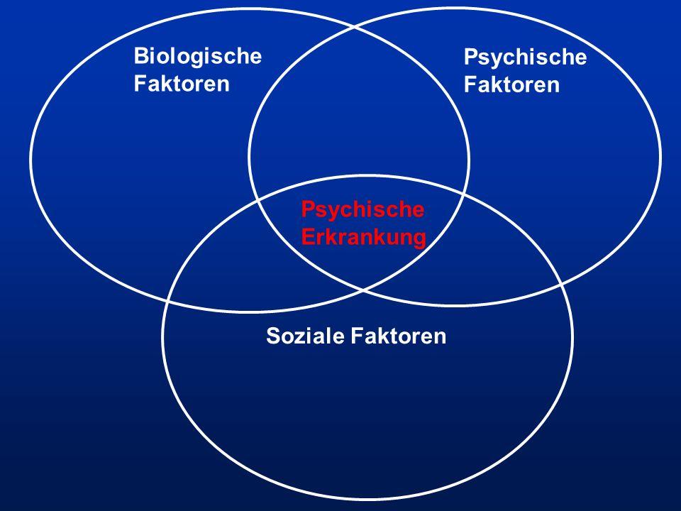Biologische Faktoren Psychische Faktoren Psychische Erkrankung Soziale Faktoren