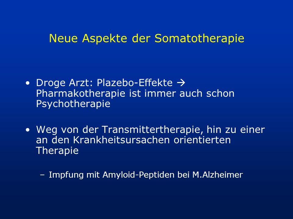 Neue Aspekte der Somatotherapie