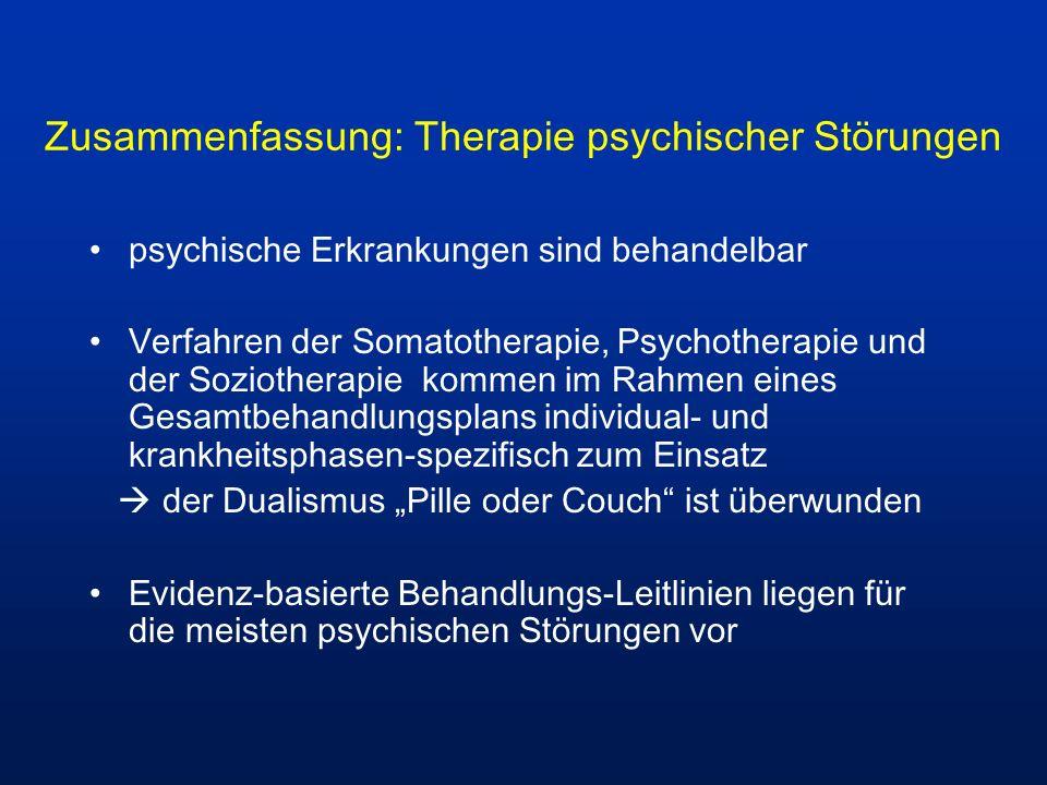 Zusammenfassung: Therapie psychischer Störungen