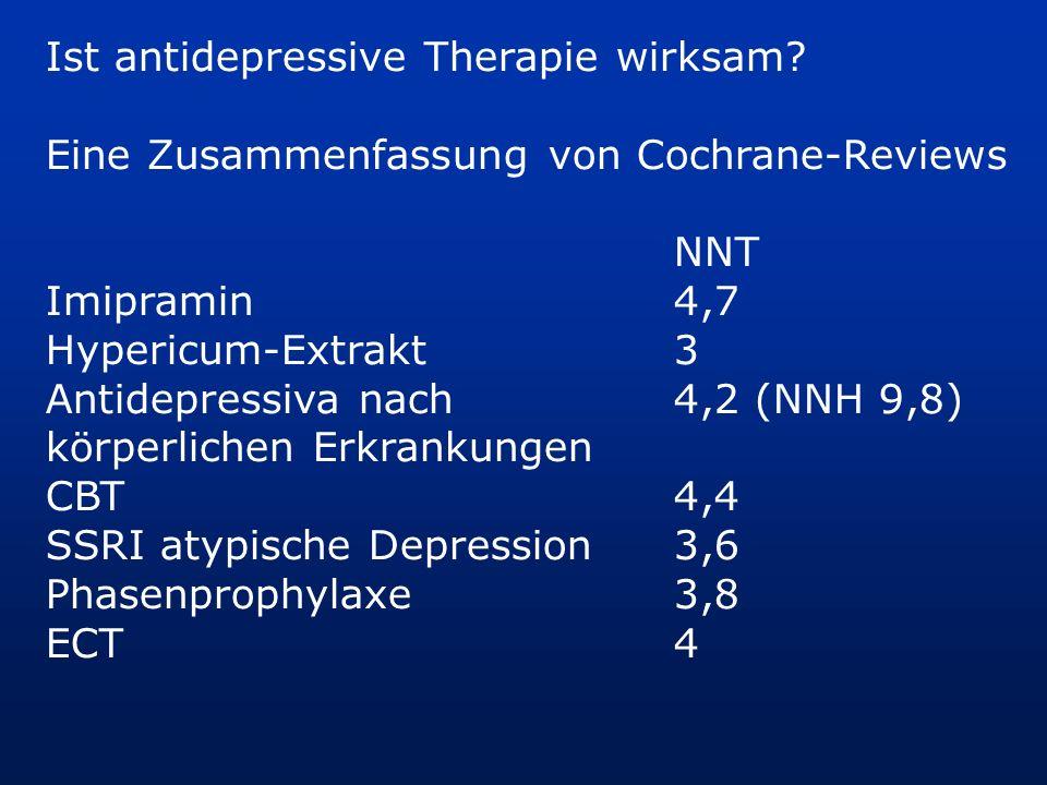 Ist antidepressive Therapie wirksam