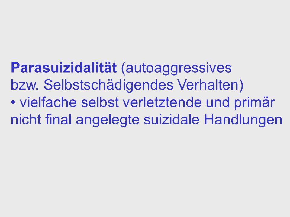 Parasuizidalität (autoaggressives