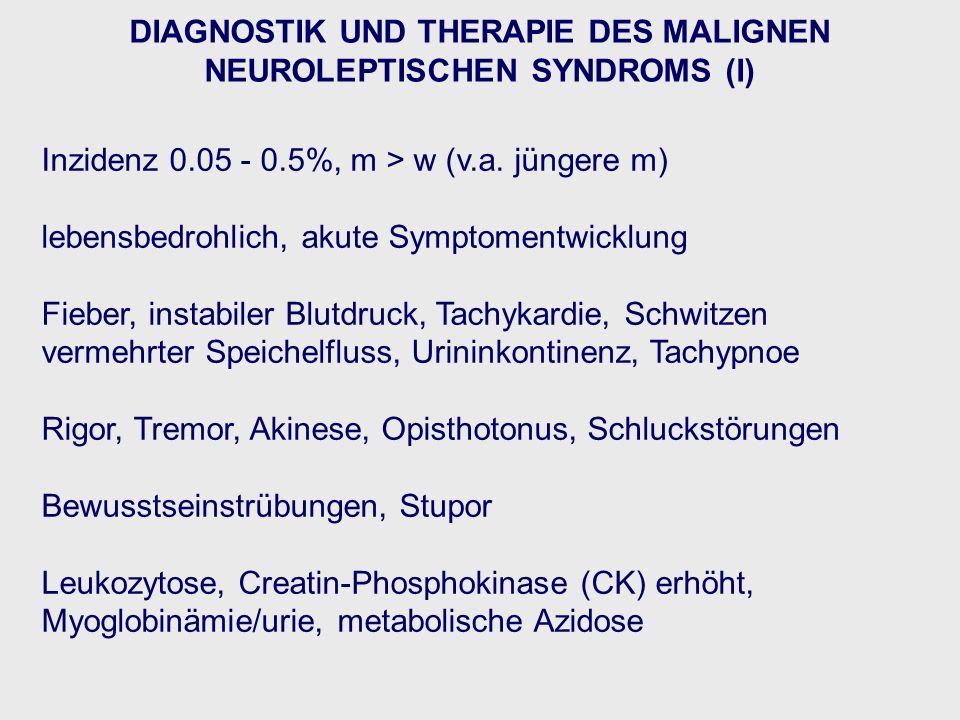 DIAGNOSTIK UND THERAPIE DES MALIGNEN NEUROLEPTISCHEN SYNDROMS (I)