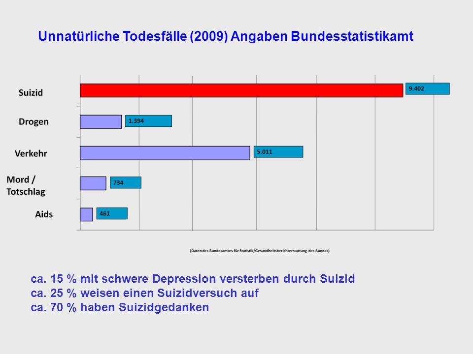 Unnatürliche Todesfälle (2009) Angaben Bundesstatistikamt