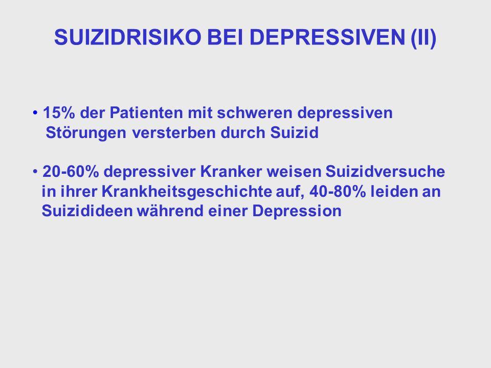 SUIZIDRISIKO BEI DEPRESSIVEN (II)