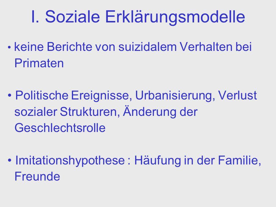 I. Soziale Erklärungsmodelle