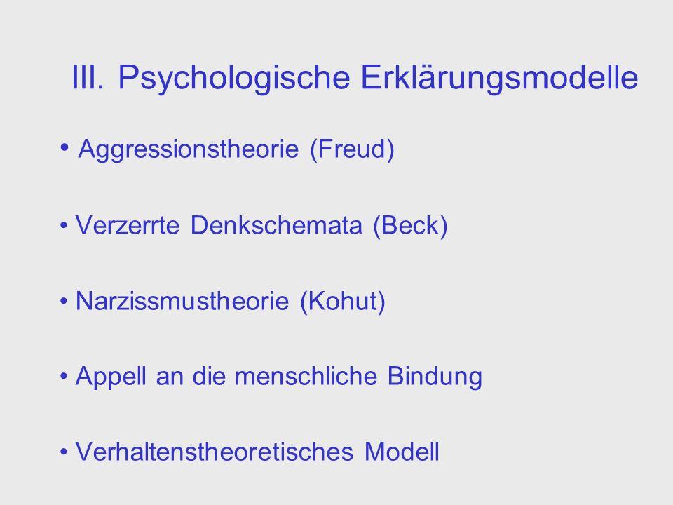 III. Psychologische Erklärungsmodelle