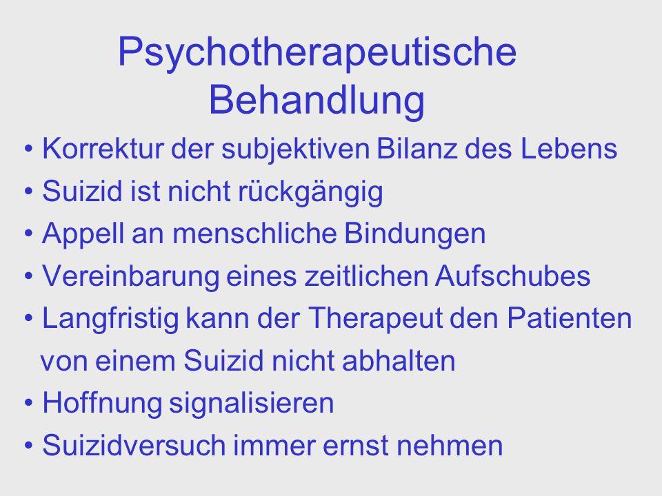 Psychotherapeutische Behandlung
