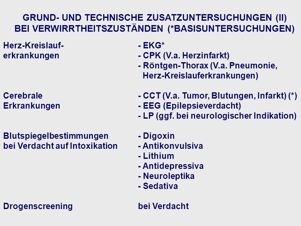 GRUND- UND TECHNISCHE ZUSATZUNTERSUCHUNGEN (II)