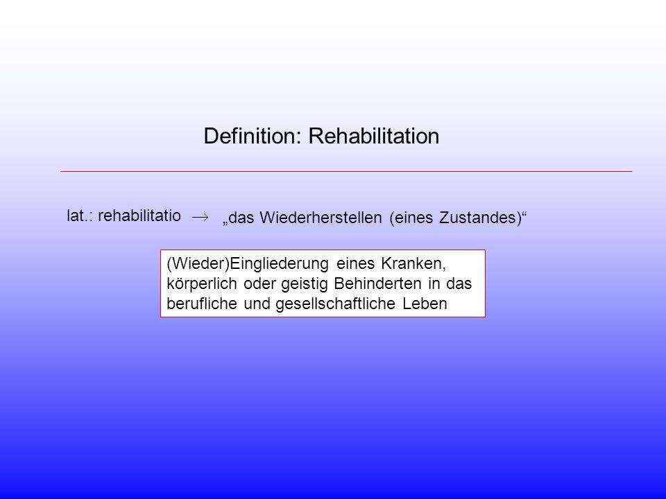 Definition: Rehabilitation
