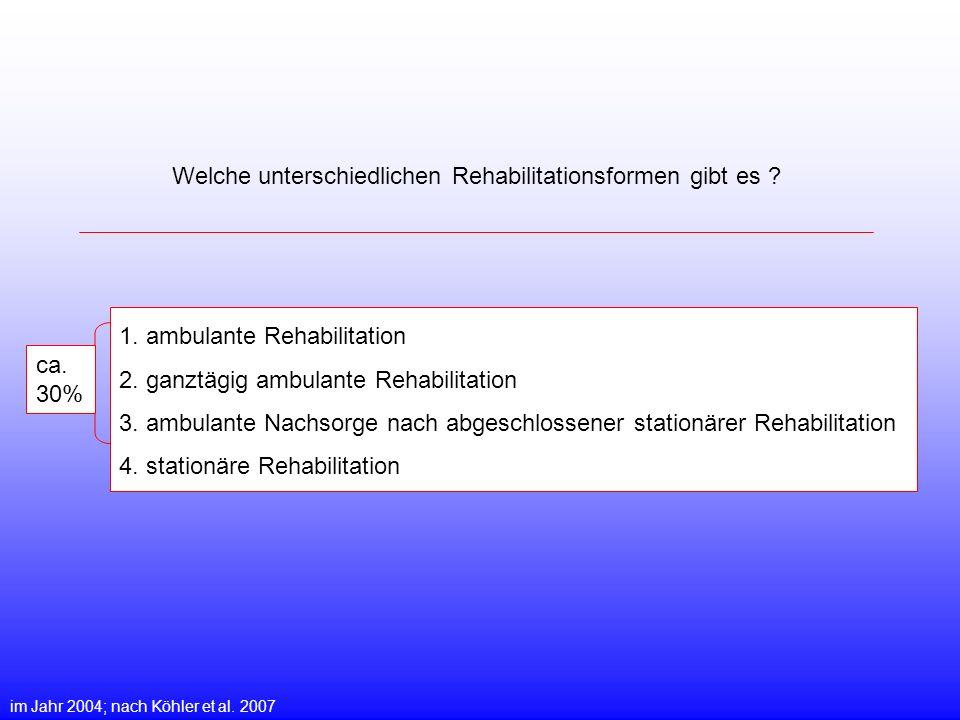 Welche unterschiedlichen Rehabilitationsformen gibt es