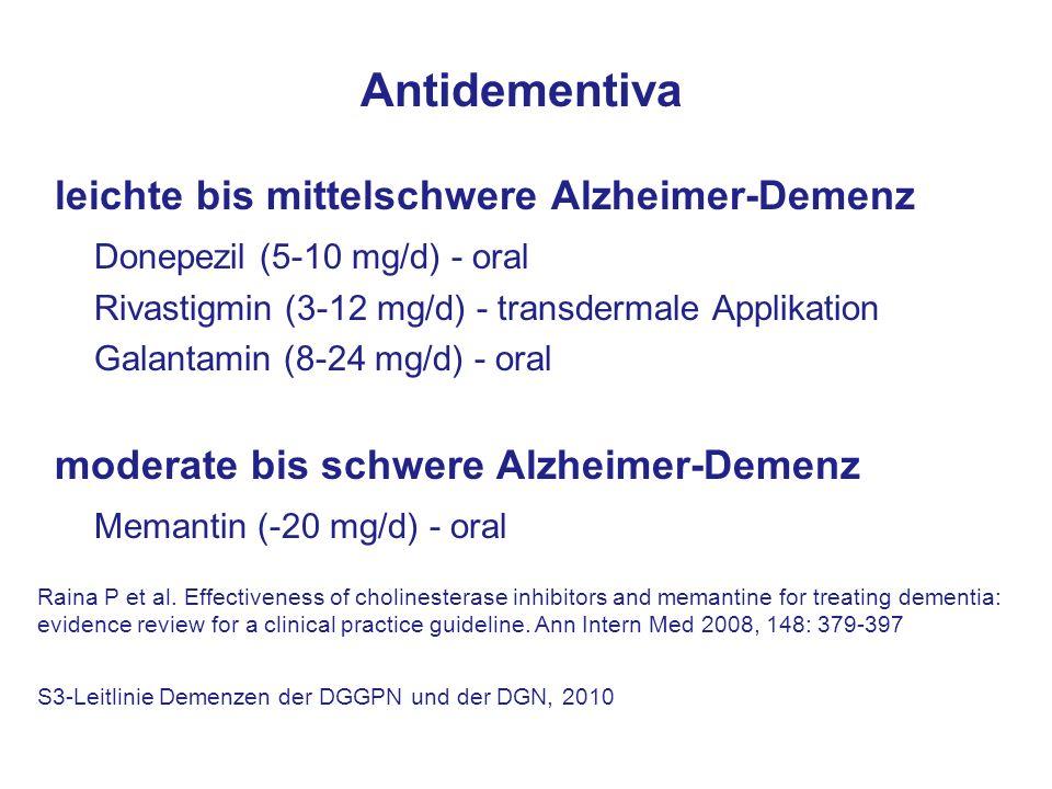 Antidementiva leichte bis mittelschwere Alzheimer-Demenz