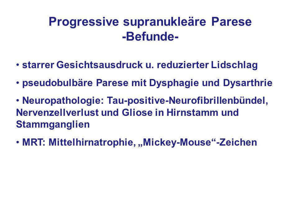 Progressive supranukleäre Parese