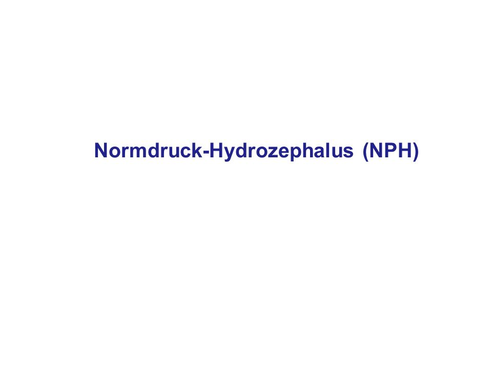 Normdruck-Hydrozephalus (NPH)