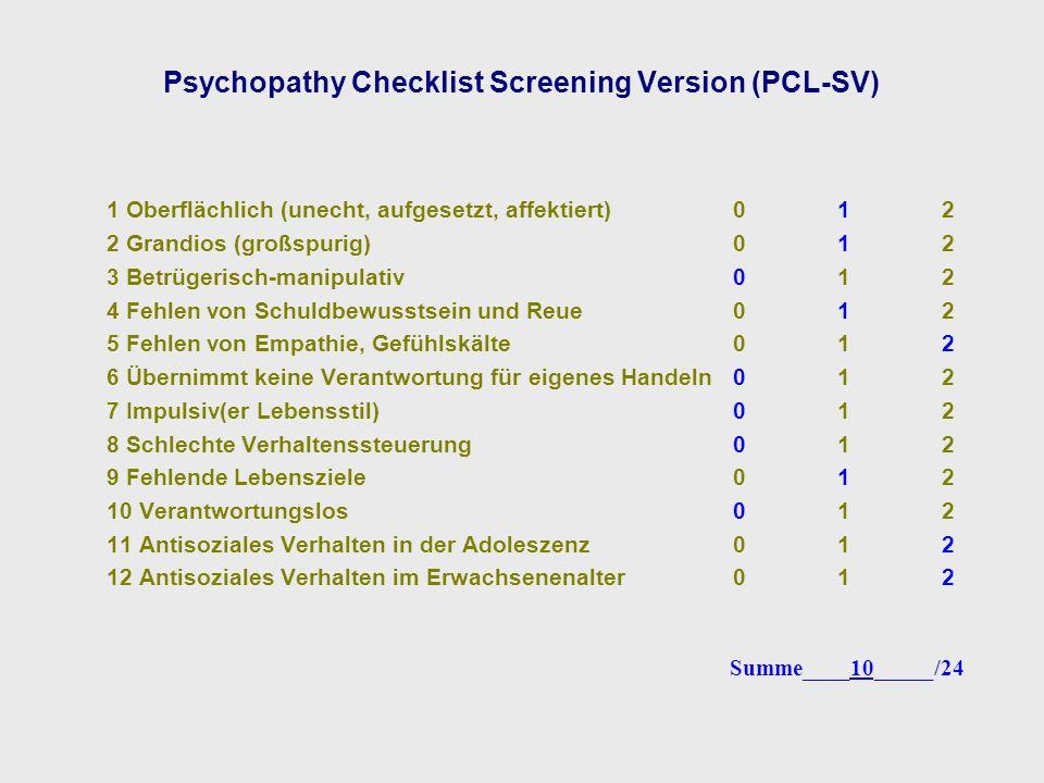Psychopathy Checklist Screening Version (PCL-SV)