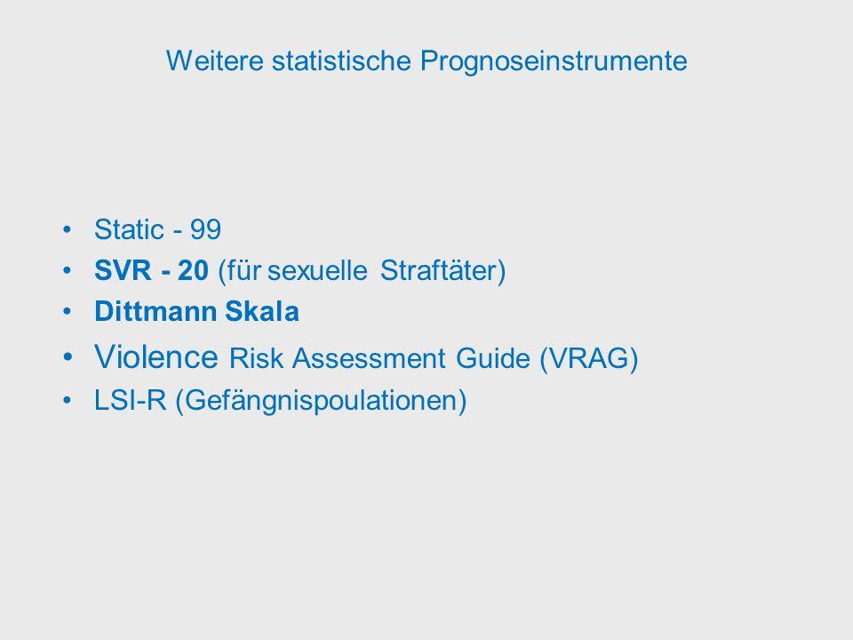 Weitere statistische Prognoseinstrumente