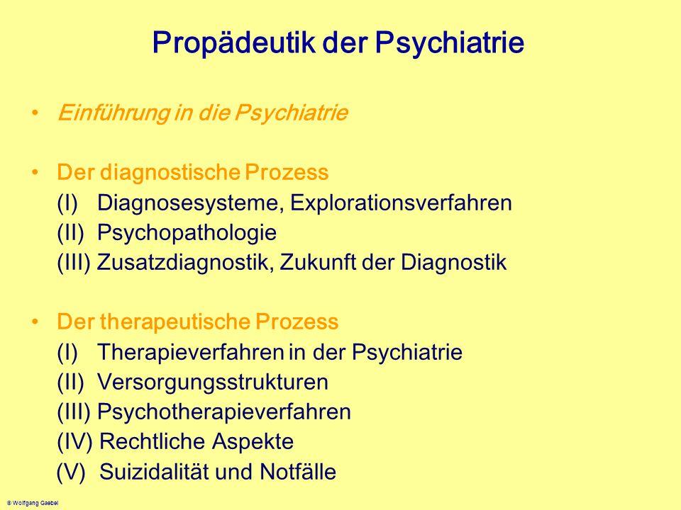 Propädeutik der Psychiatrie