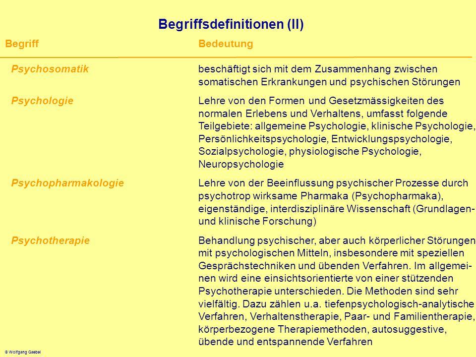 Begriffsdefinitionen (II)