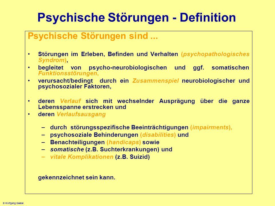Psychische Störungen - Definition
