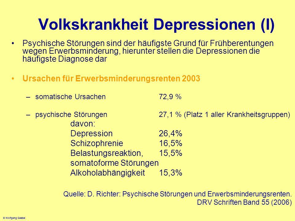 Volkskrankheit Depressionen (I)