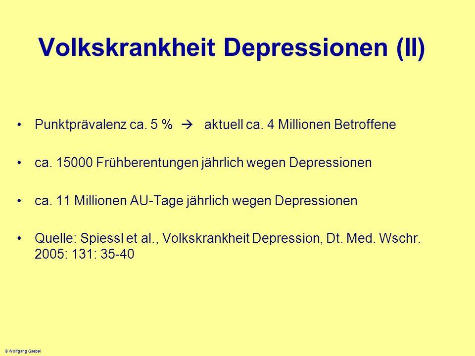 Volkskrankheit Depressionen (II)