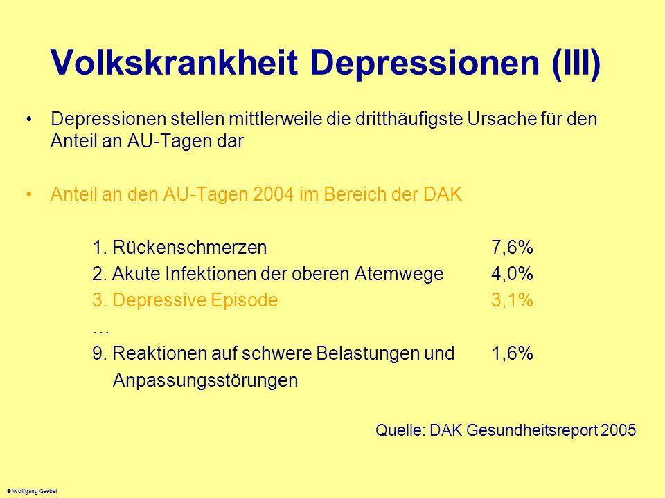 Volkskrankheit Depressionen (III)
